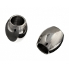 Metal Oval Tube 4X4.6mm With 2.2 Hole Gunmetal
